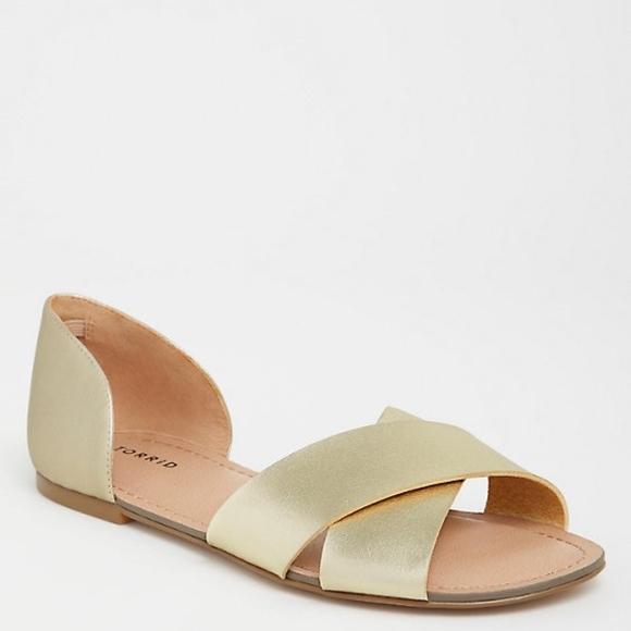 torrid Shoes | Torrid Gold Criss Cross